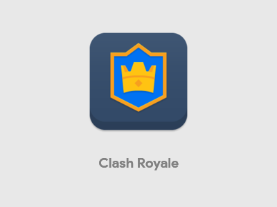 Clash Royale Icon cartoon themes android ios iconography clans supercell