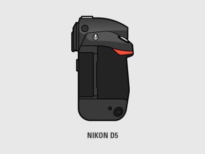 Nikon D5 Illustration sticker minimal clip art focal lens n nikon dslr vector