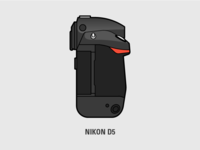 Nikon D5 Illustration