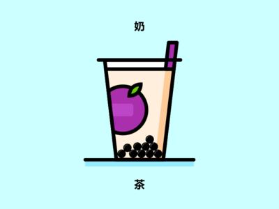 Got Milk Tea? vector sketch design minimal flat concept line illustration beverage food straw pearl