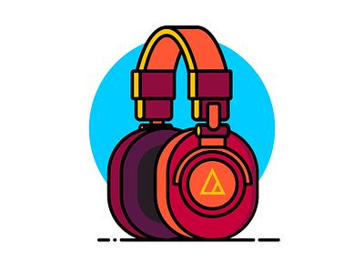 M50X illustrator jack earphone headphone electronics technology technica audio headphones design illustration vector