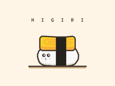 Egg Nigiri vector illustration design