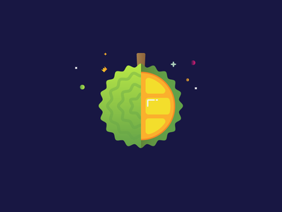 King of Fruits illustrator minimal inspiration daily asian tropical durian fruits food fruit illustration design vector