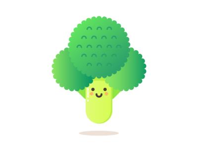 Brock vegetable broccoli apple cute food minimal illustrator design illustration vector