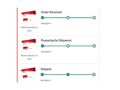 Tracking Orders ui ux creative direction