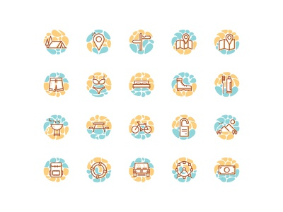 Travel Summer Vacation icon sets flat line ux ui iconography icon sets flat icon location maps holidays vacation summer travel