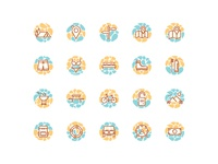 Travel Summer Vacation icon sets