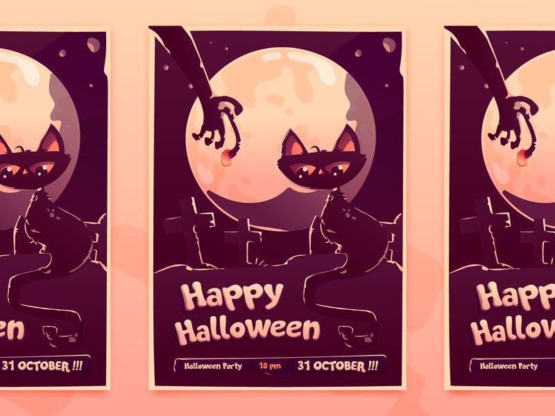 Halloween Party Invitation Card By Rudy Muhardika For Oww On
