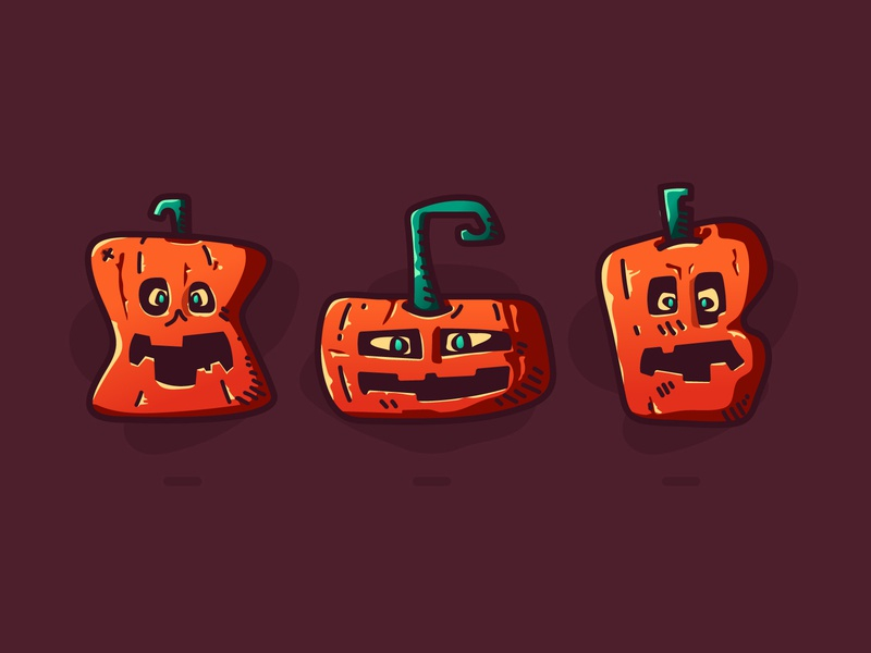 Pumpkin bash vegetables plants icon sets flat illustration character flat icon scary icons flat illustration pumpkin halloween