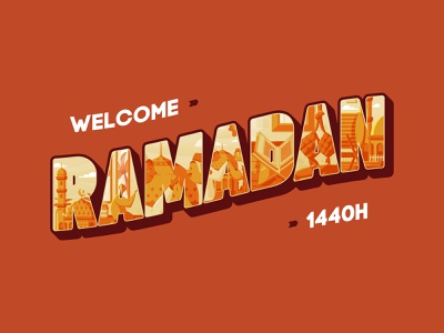 Welcome Ramadan Kareem 1440H islam muslim forgive pray ramadhan ramadan kareem ramadan flat flat icon flat illustration illustration flat design