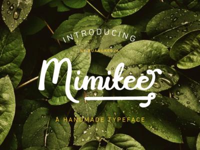 Mimitee - A handmade typeface handwritten typeface font bundle font design handmade handwritten font font handwriting