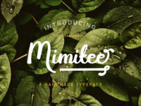 Mimitee - A handmade typeface