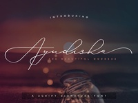 Ayudisha - A script signature font