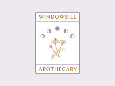Windowsill Apothecary plants botanical herbalist herbalism queer witchy moon phases moons chamomile plant apothecary windowsill window