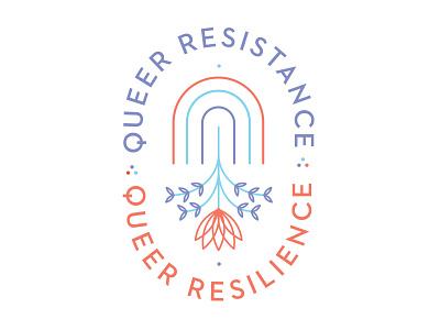 Queer Resistance Queer Resilience pride gaypride dots flower plant gay rainbow resilience resistance queer