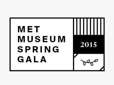 Met Museum Spring Gala Sketches gala museum lockup suisse leaf leaves plant text