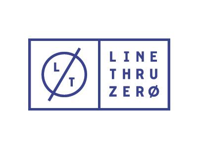 Line Thru Zero Logo circle stamp seal identity exhibition design nordic zero logo