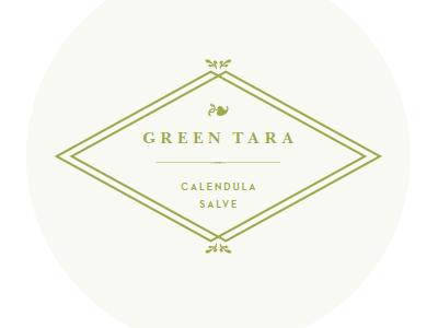 Calendula Salve Label leaf ornament glyph packaging label green salve