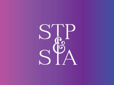 St Paul & St Andrew Monogram elegant type gradient monogram saint church