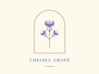 Plant Logo frame vase bell jar flower chelsea identity logo plant