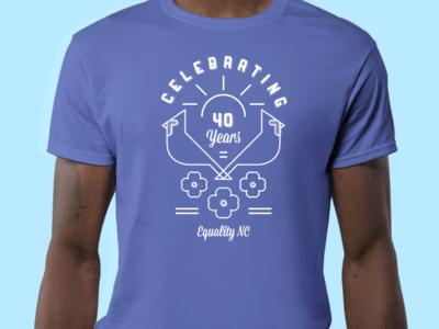 Equality NC Tee Shirt design lgbtq gay plant dogwood cardinals tee shirt north carolina nc equality