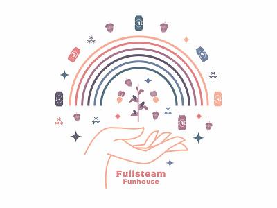 Fullsteam Brewery Tee Shirt pink sparkle stars fullsteam beer lgbtq corn beets hops gay queer rainbow tee shirt shirt