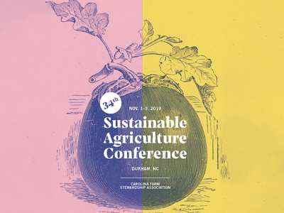 Sustainable Agriculture Conference Logo aubergine farm vegetable agriculture conference eggplant logo