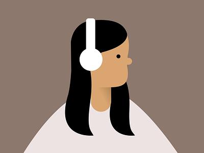 Minimalist Portrait affinity designer vector portrait