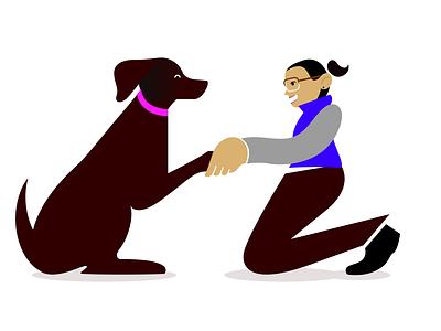 Besties dogs illustration affinity designer vector portrait