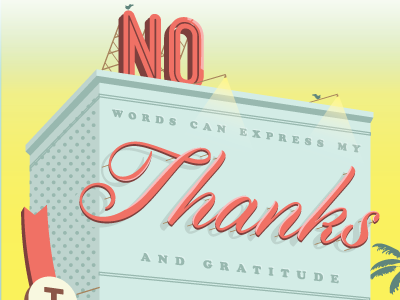 Thank You Card postcard typography losttype hollywood