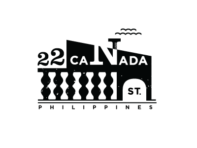 Canada St. logo branding identity house black and white