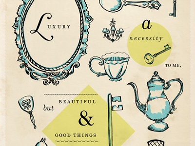 Luxury Print vintage illustration luxury typography