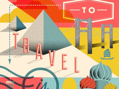 To Travel is To Live poster typography illustration
