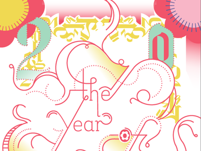 The Year of Becoming typography postcard print 2013