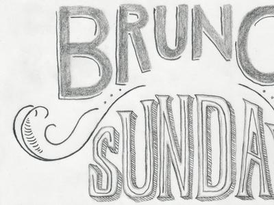 Brunch poster sign - sketch