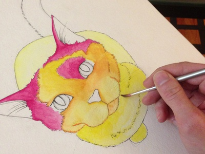 Bibble the cat adding shading and depth