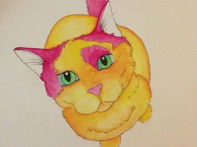 Bibble the cat almost finished