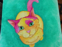 Bibble the cat painting completed