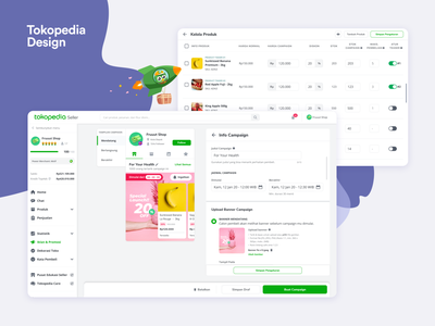 Tokopedia - New Product Launching Platform web design dashboard seller ecommerce tokopedia ux ui