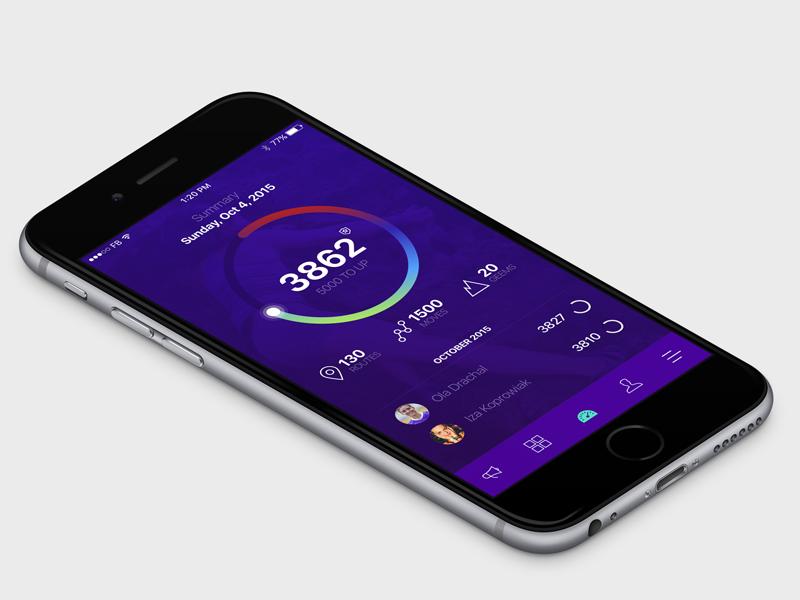Gripit app mobile ios gui sport iphone apple ui