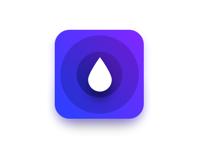 Hydra app icon mobile app icon water iphone apple watch ios flat overview