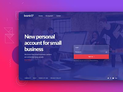 Bankup - on boarding bank web design web app onboarding overview naviagation ui ux gui design