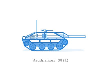 Hetzer sketch tank avatar worldoftanks wot icons illustration vector