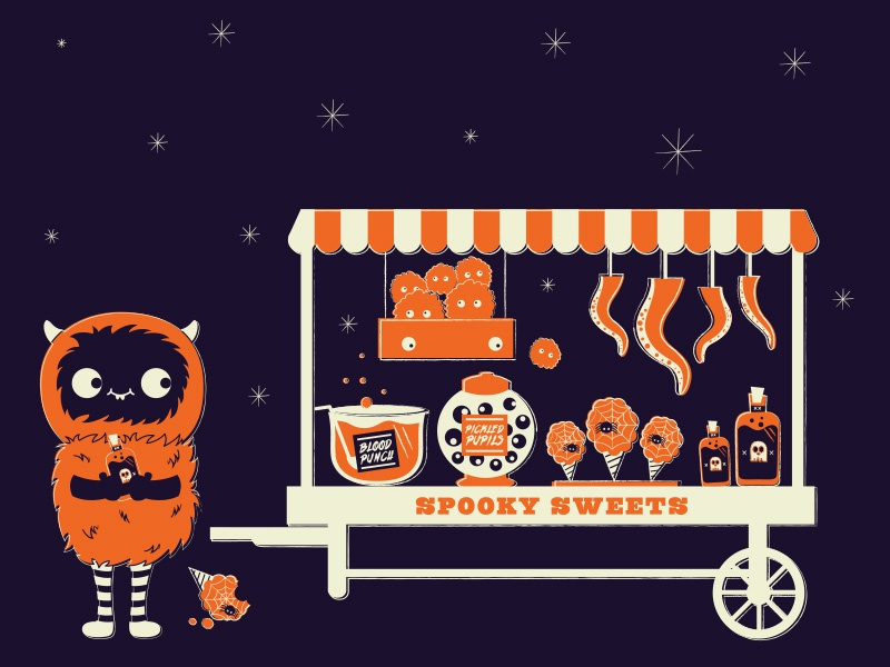 Spooky Sweets illustration monster character japanese halloween