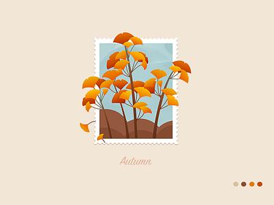 wallpaper-autumn wallpaper visual ginkgo fall illustrationsin design