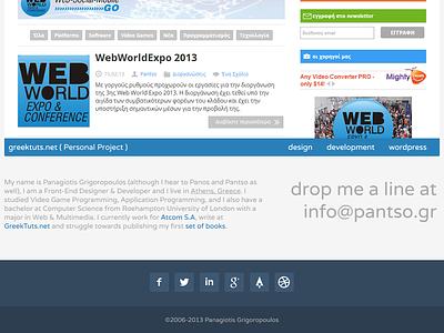 Personal Redesign flat flat design responsive mobile wordpress