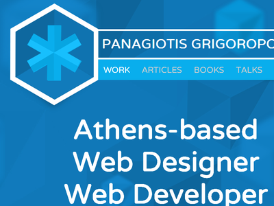 Personal Website Redesign redesign personal parallax