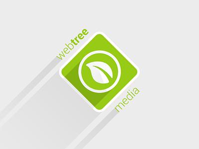 WebTree Media Logo logo redesign leaf tree long shadow