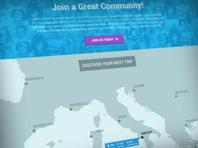 Travel Map travel map community flat bootstrap