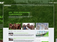 GreenPeace Homepage Rethink
